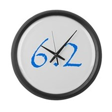 10k miles.png Large Wall Clock