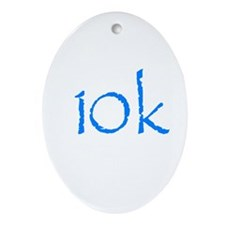 10k.png Ornament (Oval)