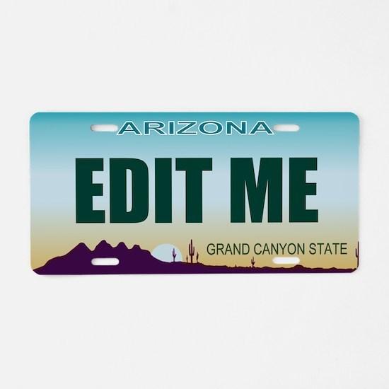 Aluminum License Plate Arizona 1