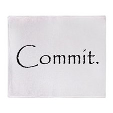 Commit.png Throw Blanket