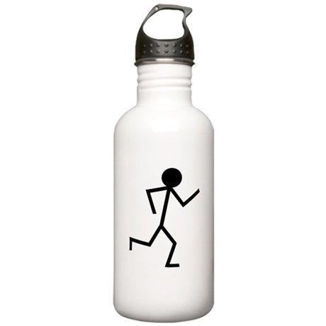 Running Stickman.png Stainless Water Bottle 1.0L