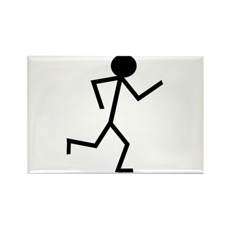 Running Stickman.png Rectangle Magnet (100 pack)