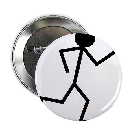 """Running Stickman.png 2.25"""" Button (10 pack)"""