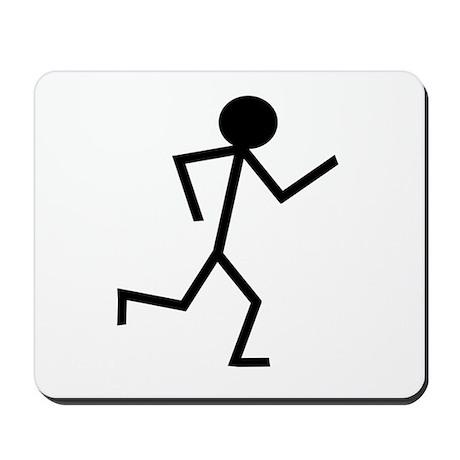 Running Stickman.png Mousepad