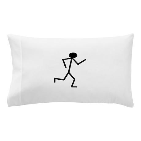 Running Stickman.png Pillow Case