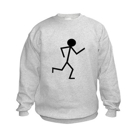 Running Stickman.png Kids Sweatshirt