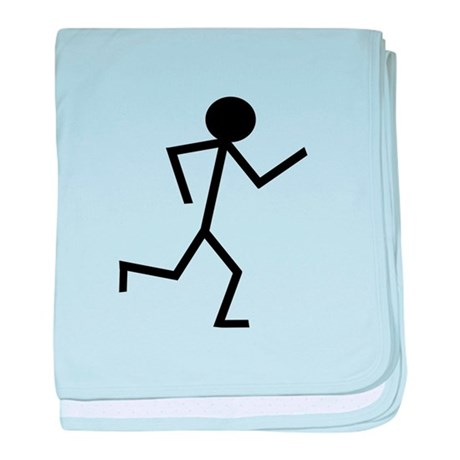 Running Stickman.png baby blanket