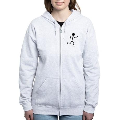 Running Stickman.png Women's Zip Hoodie