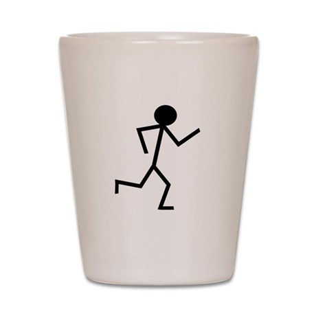 Running Stickman.png Shot Glass