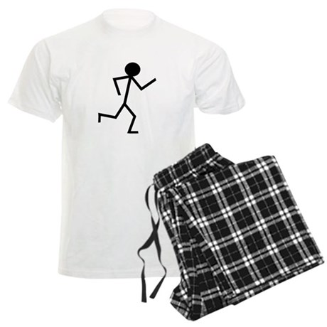 Running Stickman.png Men's Light Pajamas