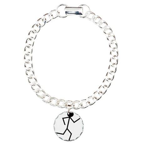 Running Stickman.png Charm Bracelet, One Charm