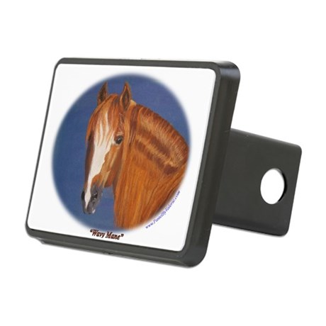 Wavy Mane Rectangular Hitch Coverle)