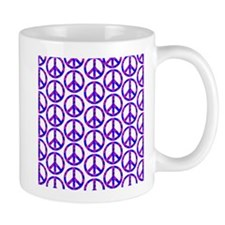 Peace Sign Print Pink Cherry Blossom.png Small Small Mug