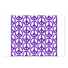 Peace Sign Print Pink Cherry Blossom.png Postcards