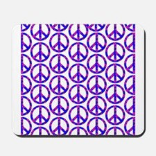 Peace Sign Print Pink Cherry Blossom.png Mousepad