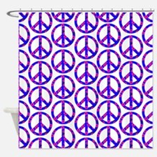 Peace Sign Print Pink Cherry Blossom.png Shower Cu