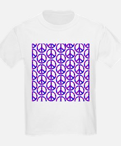 Peace Sign Print Pink Cherry Blossom.png T-Shirt