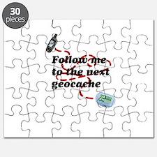 Follow me to the next geocache Puzzle