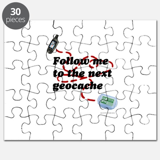 Follow me to the next geocache Puzzle