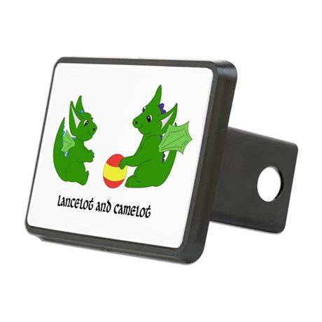 Dragon Days Playing Ball Rectangular Hitch Cover