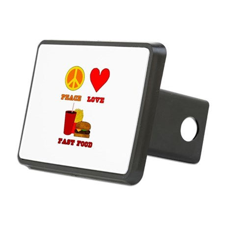 Peace Love Fast Food Rectangular Hitch Coverle)