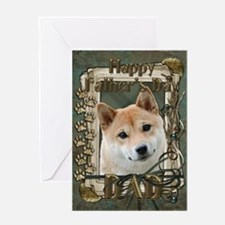 Fathers Day Stone Paws Shiba Inu Greeting Card