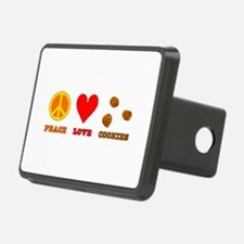 Peace Love Cookies Rectangular Hitch Coverle)