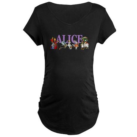 Alice In Wonderland Maternity Dark T-Shirt