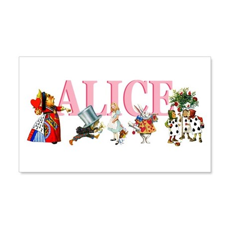 Alice In Wonderland 22x14 Wall Peel