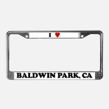 I Love Baldwin Park License Plate Frame