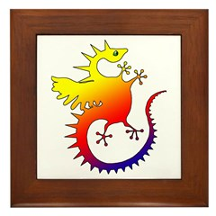 Rainbow Dragon Framed Tile