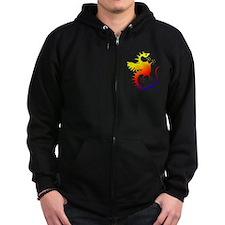 Rainbow Dragon Zip Hoodie