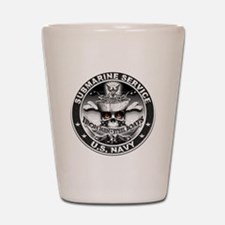 USN Submarine Service Skull Shot Glass