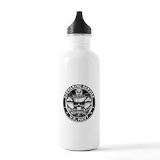 USN Submarine Service Skull Water Bottle