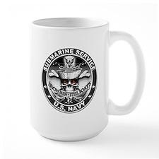 USN Submarine Service Skull Mug