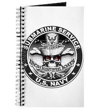 USN Submarine Service Skull Journal