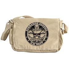 USN Submarine Service Skull Messenger Bag