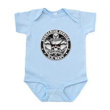 USN Submarine Service Skull Infant Bodysuit