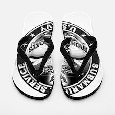 USN Submarine Service Skull Flip Flops