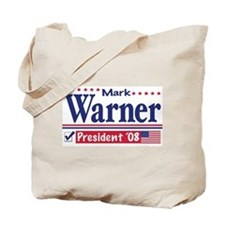 Mark Warner Vote Blue 2008 Tote Bag