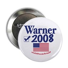 Mark Warner Vote Blue 2008 Button