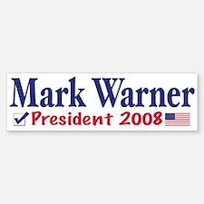 Mark Warner Vote Blue 2008 Bumper Bumper Bumper Sticker