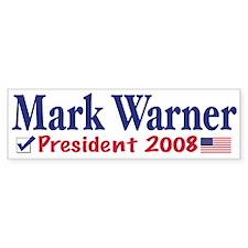 Mark Warner Vote Blue 2008 Bumper Bumper Sticker