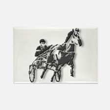 Pacer Black Silhouette Rectangle Magnet