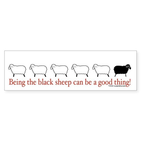 Good Black Sheep Bumper Sticker