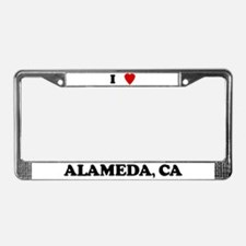 I Love Alameda License Plate Frame