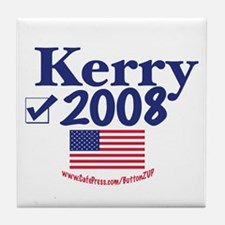 John Kerry Vote Blue 2008 Tile Coaster
