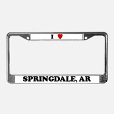 I Love Springdale License Plate Frame
