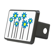 Colored flowers Hitch Coverle)