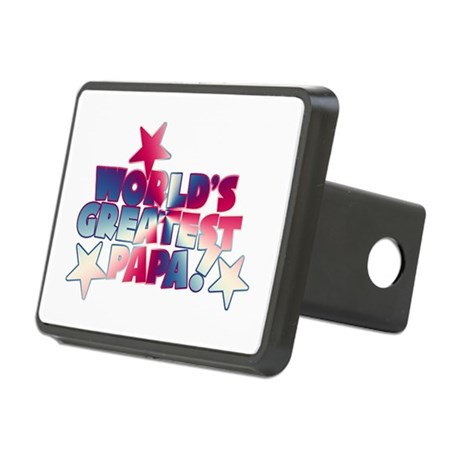 World's Greatest Papa Rectangular Hitch Cover
